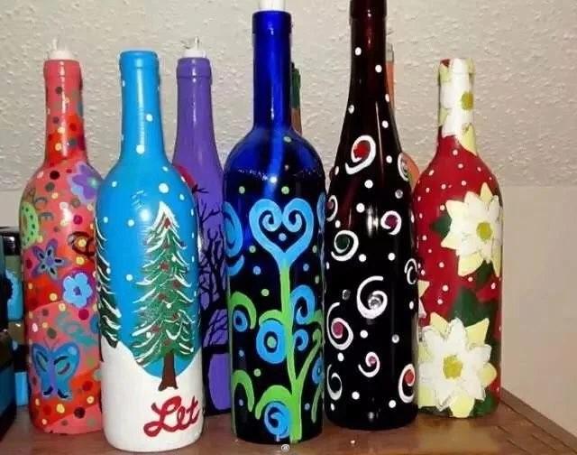 丙烯,手绘玻璃瓶